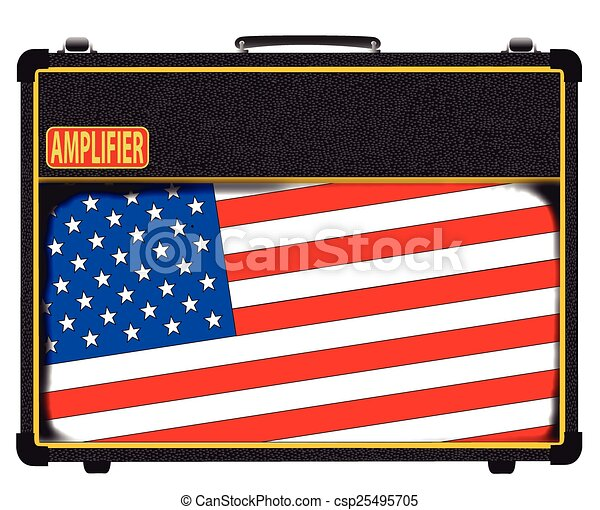 USA Rock Amplifier - csp25495705
