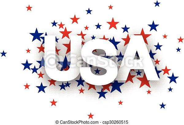 USA sign. - csp30260515