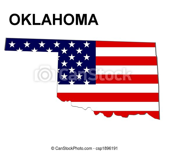 usa state of oklahoma in stars and stripes design rh canstockphoto com oklahoma outline clipart oklahoma clip art free