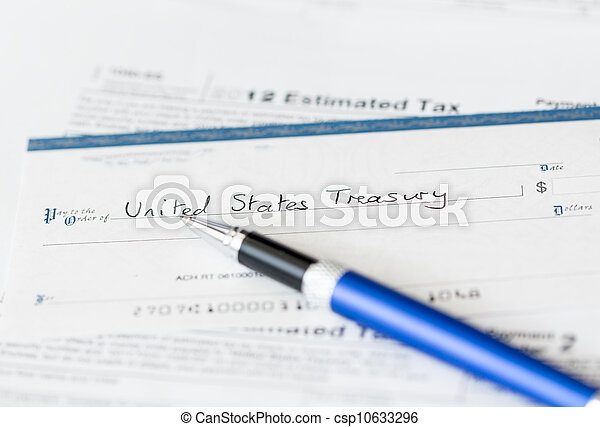 Usa Tax Form 1040 For Year 2012 With Check Tax Form 1040 Stock