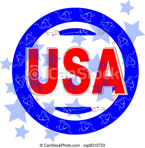 usa vector illustration. american independence day - csp9310733