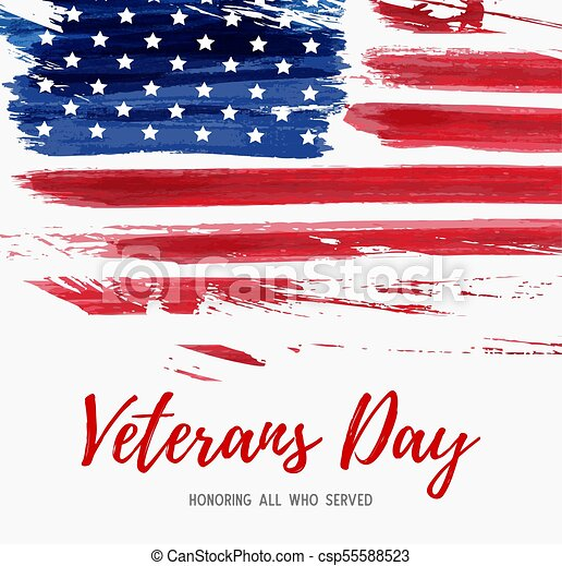 usa veterans day background vector abstract grunge brushed flag