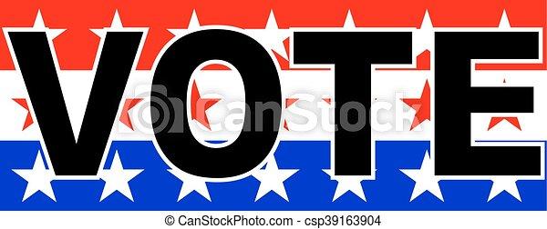usa vote - csp39163904