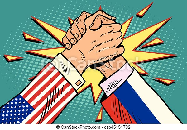 Image result for caricature russia versus usa