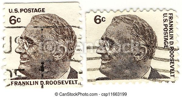 Usa Weinlese Droosevelt 32s Briefmarken Franklin