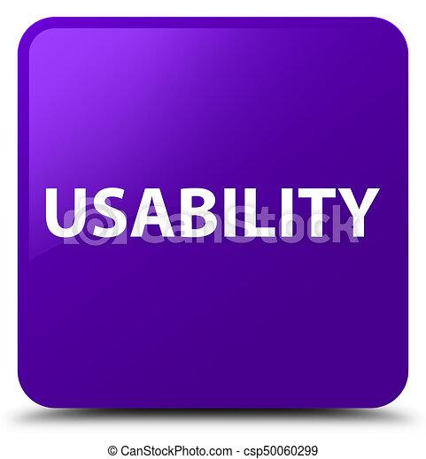Usability purple square button - csp50060299