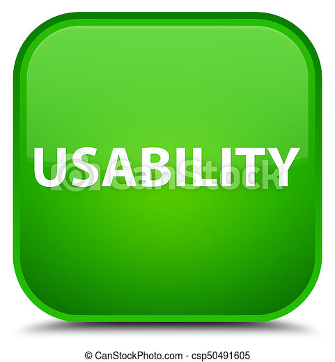 Usability special green square button - csp50491605