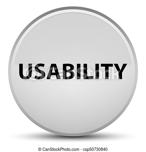 Usability special white round button - csp50730840