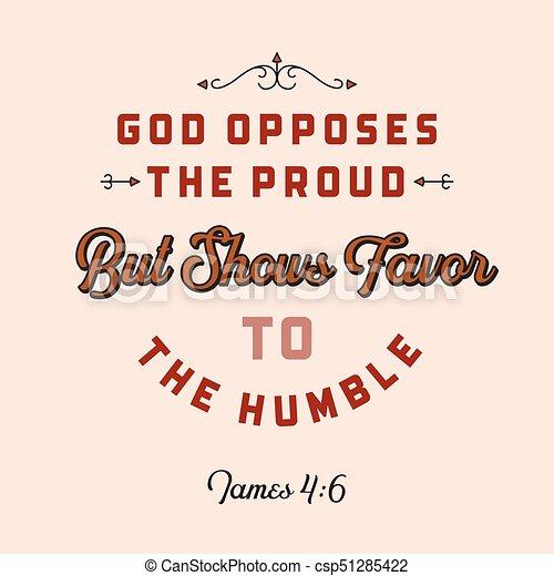 Usage Bible Chrétien Exposition Citation Voler Affiche Opposes James Fier Faveur Mais Dieu Ou Humble