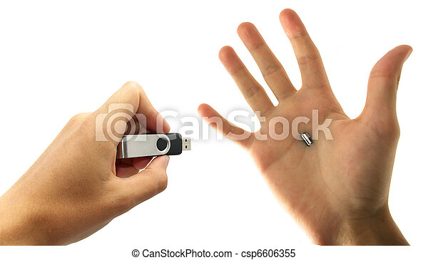 USB in hand - csp6606355
