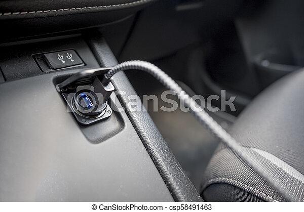 USB laddare bil cigarett tändare