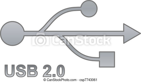 Usb sign for interface electronic hardware. - csp7743061