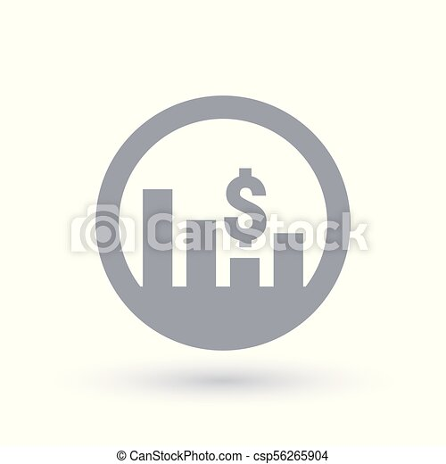 Usd Stock Market Icon Currency Exchange Rate Trade Value Sign