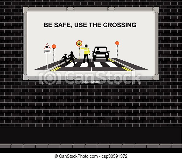 Use the crossing advertising board - csp30591372