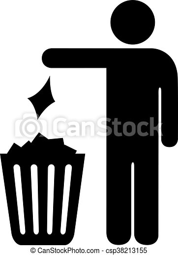 use trash can vector sign isolated on white background