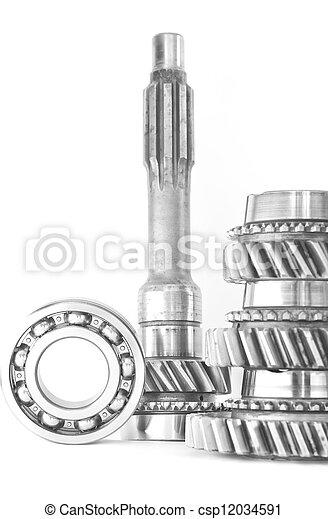 used cogwheel isolated on white background - csp12034591