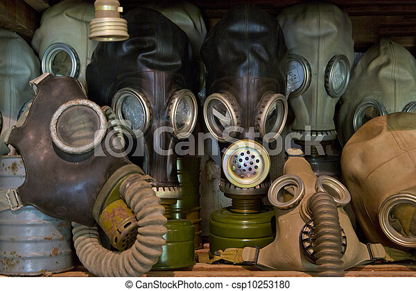 Used gas mask stored in museum - csp10253180