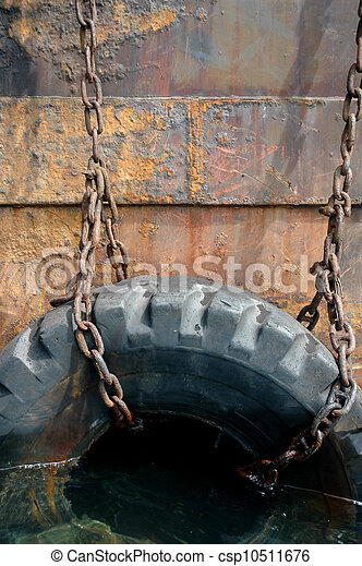 used tires on the ship - csp10511676