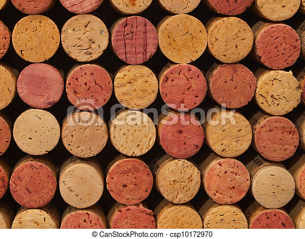 Used Wine Corks Pattern for Background - csp10172970
