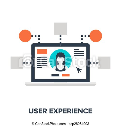 Abstract Vector Illustration Of User Experience Flat Design Concept