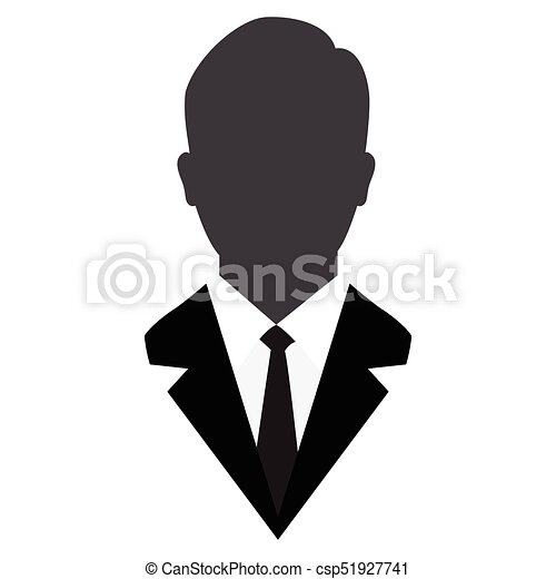 User Icon, Male avatar in business suit,Vector Iconic