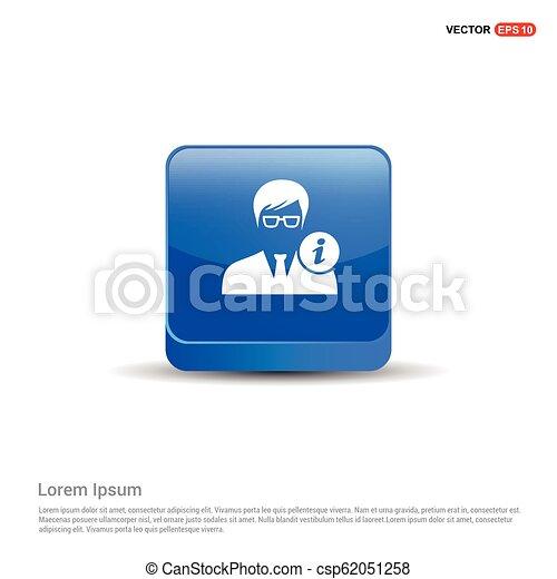 User Info Icon - 3d Blue Button - csp62051258