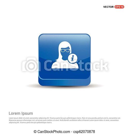 User Info Icon - 3d Blue Button - csp62070878