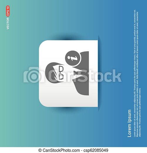 User Info Icon - Blue Sticker button - csp62085049