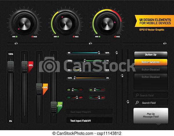User Interface Design Elements - csp11143812
