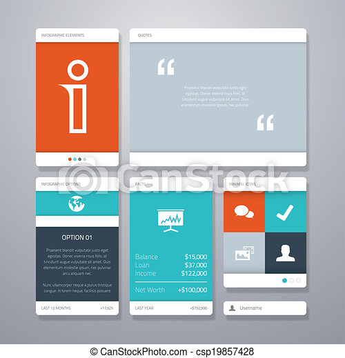 User interface vector template elem - csp19857428