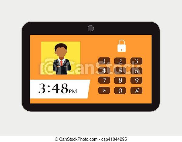 User Password on Tablet - csp41044295