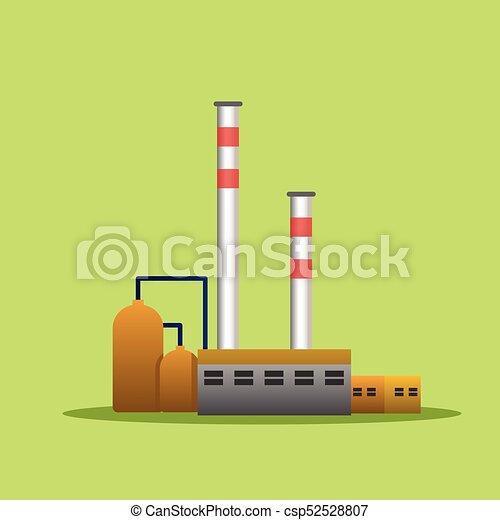 usines, bâtiments, industriel, puissance, usine, vecteur - csp52528807