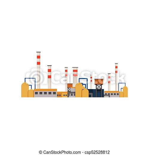 usines, bâtiments, industriel, puissance, usine, vecteur - csp52528812