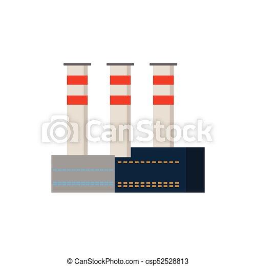usines, bâtiments, industriel, puissance, usine, vecteur - csp52528813