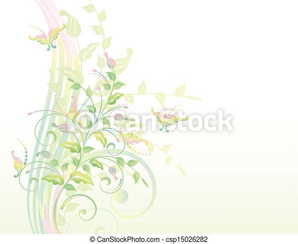 usines, floral, b, fond - csp15026282