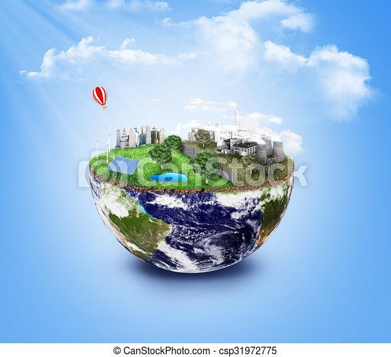 Usines Sauver Pollution Ville Ville Eco 233 Nergie