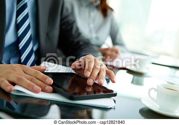 Using digital tablet - csp12821840