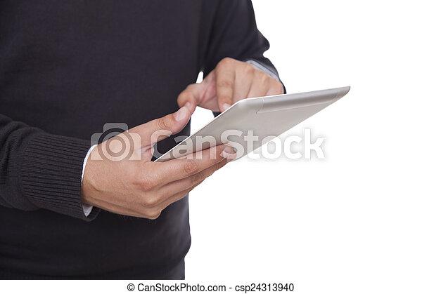 Using digital tablet - csp24313940