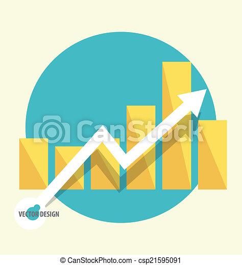 Gráfico de diseño moderno. El gráfico de negocios al éxito, puede usarse para Busi - csp21595091
