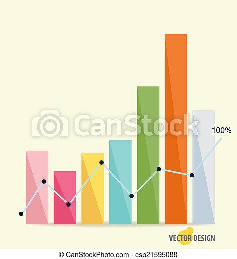 Gráfico de diseño moderno. El gráfico de negocios al éxito, puede usarse para Busi - csp21595088