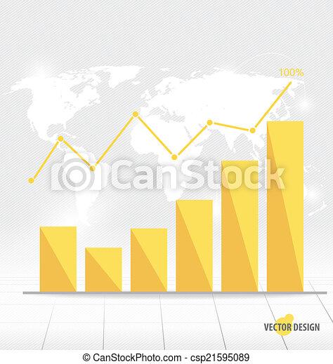 Gráfico de diseño moderno. El gráfico de negocios al éxito, puede usarse para Busi - csp21595089