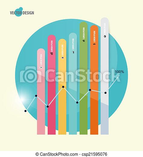 Gráfico de diseño moderno. El gráfico de negocios al éxito, puede usarse para Busi - csp21595076