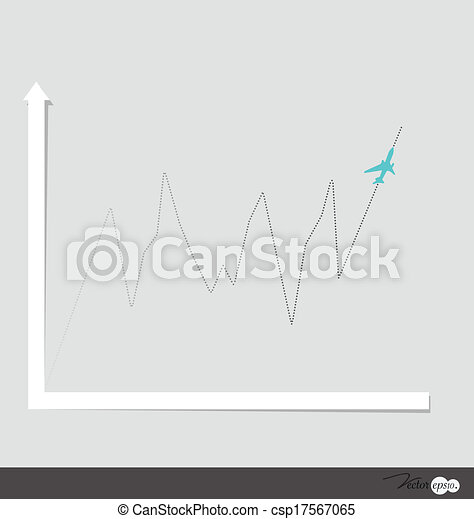 Gráfico de diseño moderno. El gráfico de negocios al éxito, puede usarse para el concepto de negocios. Ilustración de vectores. - csp17567065