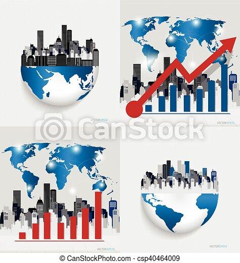 Gráfico de diseño moderno. El gráfico de negocios al éxito, puede usarse para el concepto de negocios. Ilustración de vectores. - csp40464009