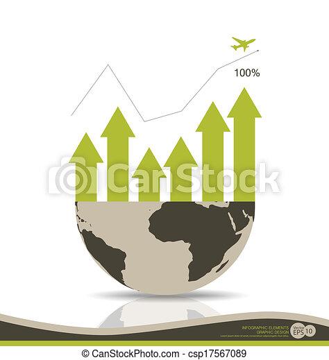 Gráfico de diseño moderno. El gráfico de negocios al éxito, puede usarse para el concepto de negocios. Ilustración de vectores. - csp17567089