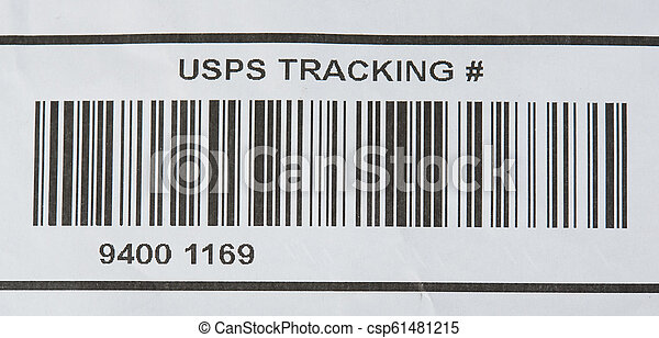 USPS tracking number and bar code