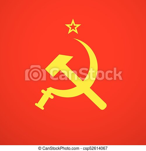 Ussr Sickle And Hammer Soviet Russia Union Symbol Vector Clip Art
