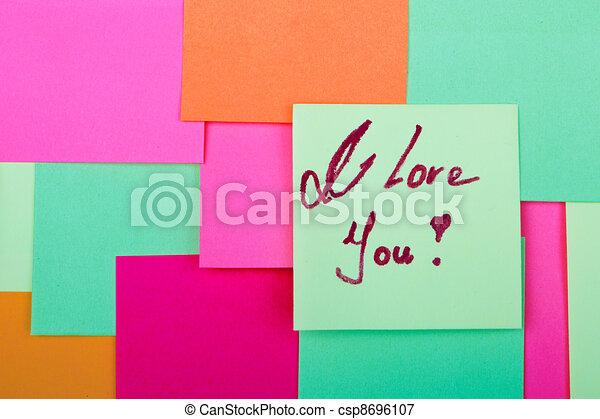Te amo - csp8696107