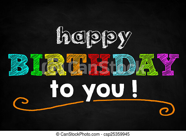 Feliz cumpleaños - csp25359945