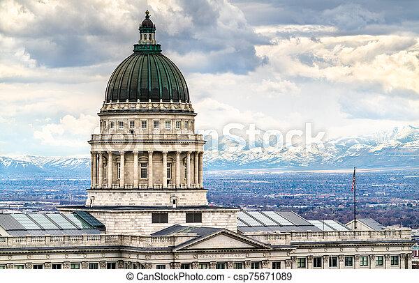 Utah State Capitol Building in Salt Lake City - csp75671089